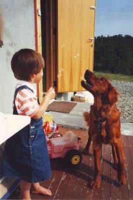 Snorre og meg en sommerdag i Kirkenes