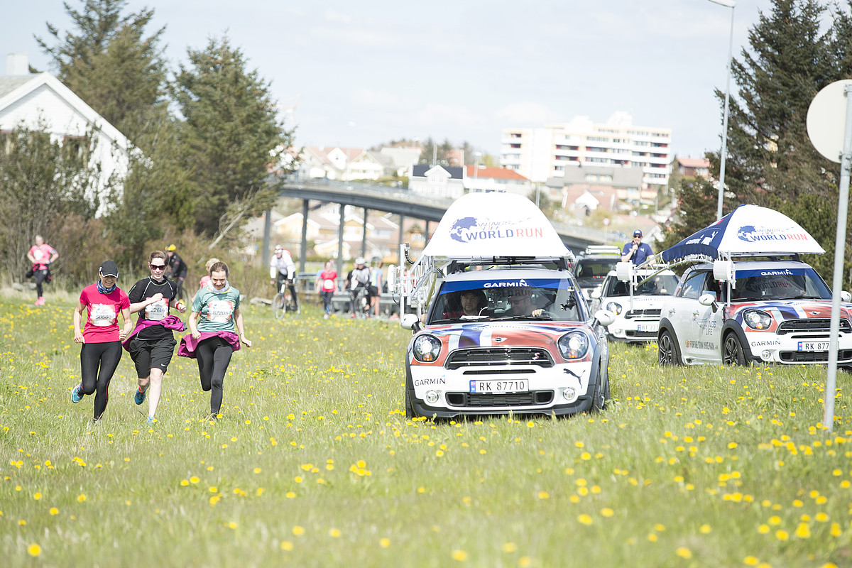 "Fra Wings For Life World Run i Stavanger: ""Aksel Lund Svindal jaget deltagere off road!"" Foto: David Tengs"